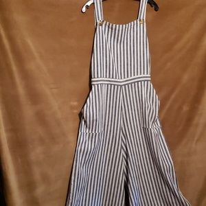 ASHLEY STEWART Striped Jumpsuit Sz 12